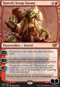 Scrap Savant Playmat Daretti Commander 2014